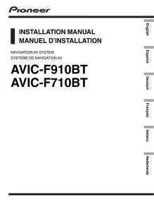 pioneer - gps - AVIC F910 BT - Installation Guide : Free Download ...