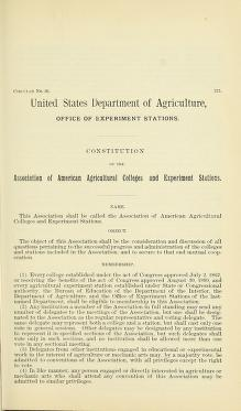 Cover of: Constitution of the Association of American Agricultural Colleges and Experiment Stations   United States. Department of Agriculture